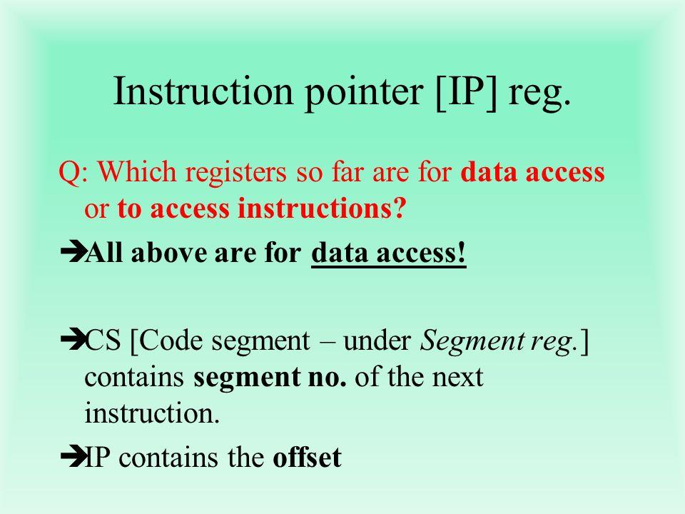 Instruction pointer [IP] reg.